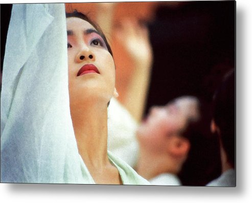 Woman Metal Print featuring the photograph Korean Dancers by T Monticello