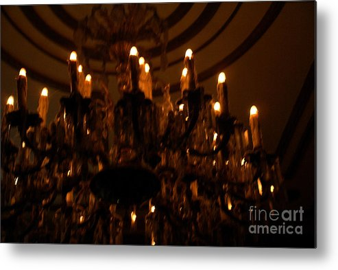 Light Metal Print featuring the photograph La Salle D'attente by Linda Shafer