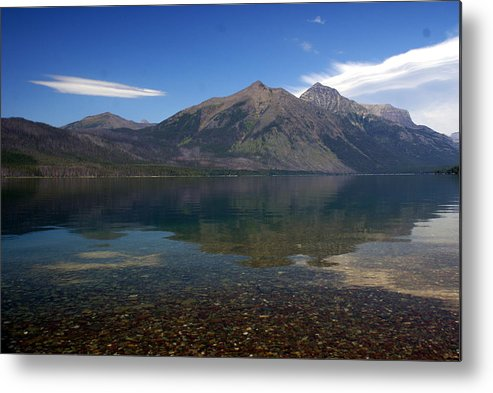 Landscape Metal Print featuring the photograph Lake Mcdonald Reflection Glacier National Park 2 by Marty Koch