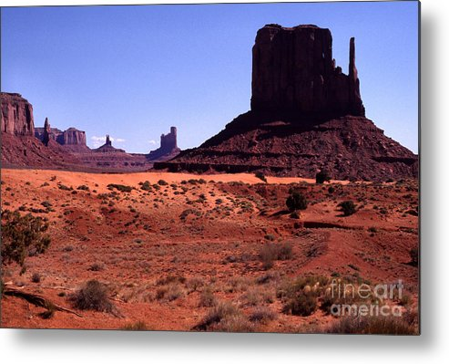 Arizona Metal Print featuring the photograph Left Mitten Monument Valley Navajo Tribal Park by Thomas R Fletcher