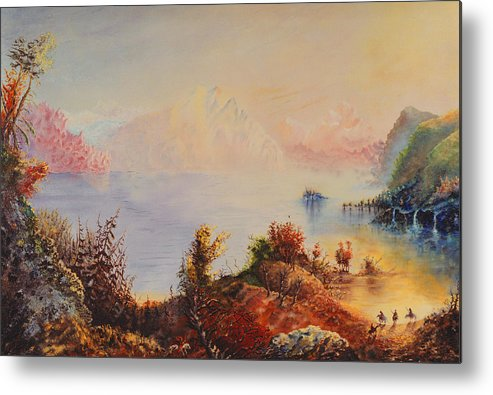 Western Metal Print featuring the painting Lewis And Clark by Richard Barham