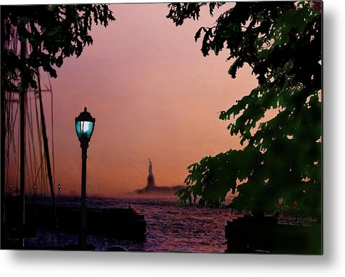 Seascape Metal Print featuring the digital art Liberty Fading Seascape by Steve Karol