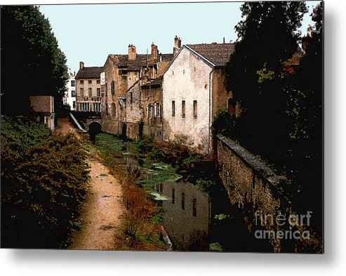 France Metal Print featuring the photograph Loire Valley Village Scene by Nancy Mueller