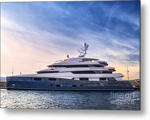 Yacht Metal Print featuring the photograph Luxury Yacht by Elena Elisseeva