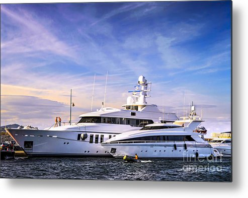 Yacht Metal Print featuring the photograph Luxury Yachts by Elena Elisseeva