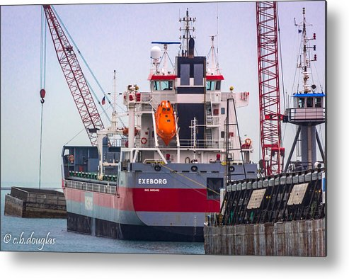 2016 Metal Print featuring the photograph M/v Exeborg by Christine Douglas