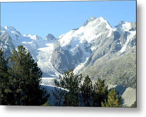 Switzerland Metal Print featuring the photograph Magnificent Swiss Glacier by Charles Ridgway