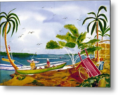 Seascape Metal Print featuring the painting Manana by Buster Dight