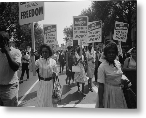 History Metal Print featuring the photograph March On Washington. African Americans by Everett
