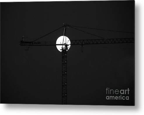 Moon Metal Print featuring the photograph Men In The Moon by David Lee Thompson