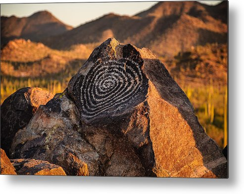 Saguaro National Park Metal Print featuring the photograph Message Rock by Ken Tidy