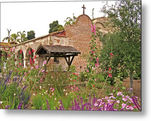 California Missions Metal Print featuring the photograph Mission Wish, Mission San Juan Capistrano, California by Denise Strahm