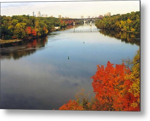 Mississippi Metal Print featuring the photograph Mississippi River by Kathy Schumann