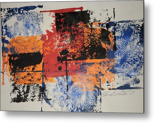 Abstract Metal Print featuring the painting Monopoly by Edward Wolverton