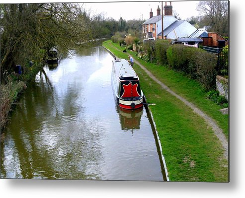 Wall Metal Print featuring the photograph Mooring In England by Mindy Newman