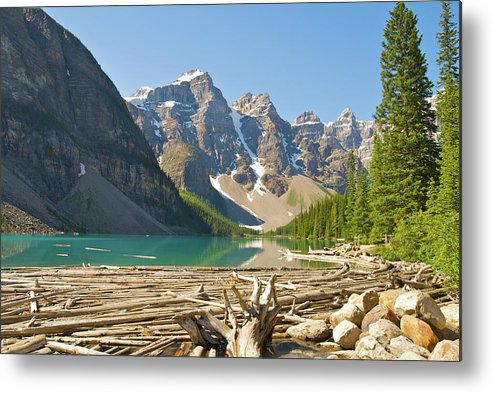 Moraine Lake Metal Print featuring the photograph Moraine Lake - Canadian Rockies by Andre Distel