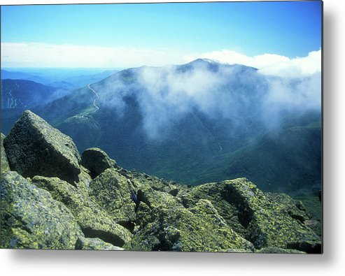 New Hampshire Metal Print featuring the photograph Mount Washington From Mount Adams Summit by John Burk