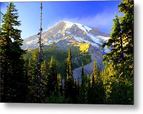 Mountain Metal Print featuring the photograph Mountain Sunset by Marty Koch