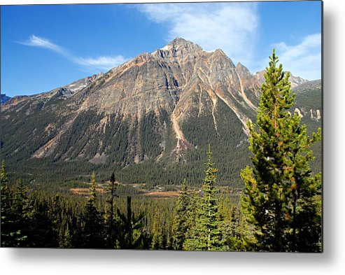 Jasper National Park Metal Print featuring the photograph Mountain View 1 by Larry Ricker