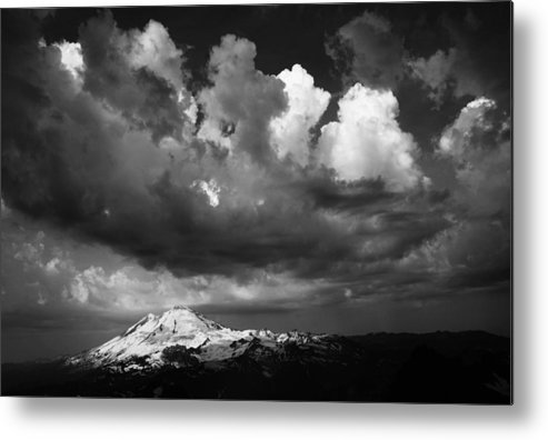 Mount Metal Print featuring the photograph Mt. Baker Thunderstorm. by Alasdair Turner