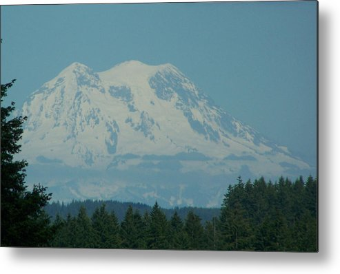 Mount Rainier Metal Print featuring the photograph Mt Rainier Washington by Laurie Kidd