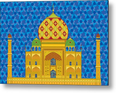 Taj Mahal Metal Print featuring the digital art My Taj Mahal by Vlasta Smola