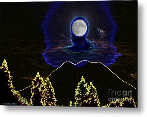 Washington Metal Print featuring the photograph Mystic Moon by Larry Keahey