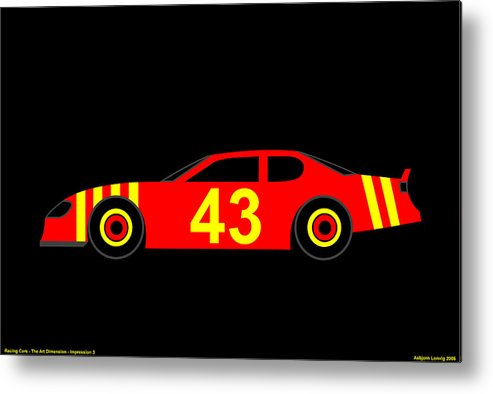 Nascar Metal Print featuring the digital art Nascar by Asbjorn Lonvig