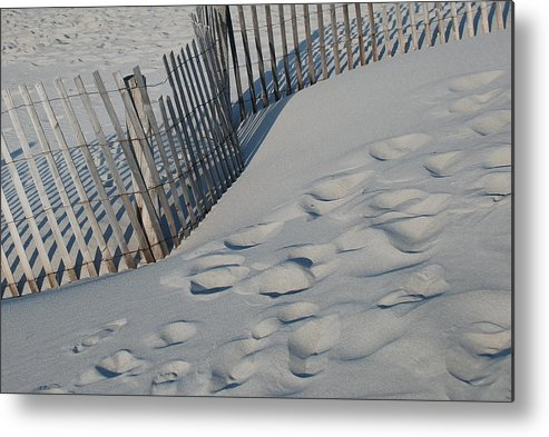 New England Metal Print featuring the photograph New England Footprints by Gene Sizemore