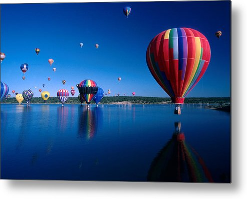 Hot Air Balloon Metal Print featuring the photograph New Mexico Hot Air Balloons by Jerry McElroy