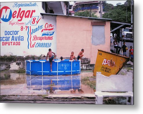 Swimming Metal Print featuring the photograph No Lifeguard by Robert Boyette