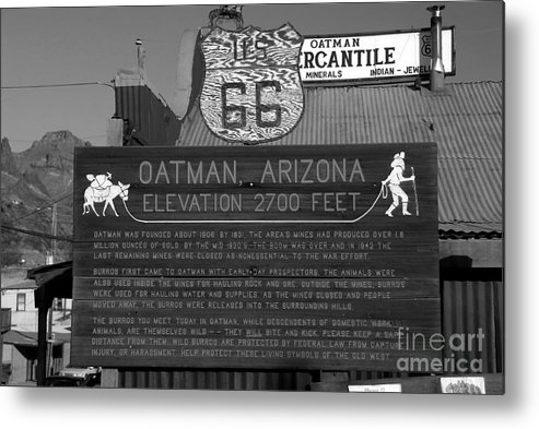 Oatman Arizona Metal Print featuring the photograph Oatman Arizona by David Lee Thompson