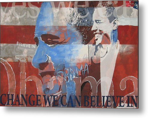 Obama Art Metal Print featuring the mixed media Obama Yes by Xavier Carter