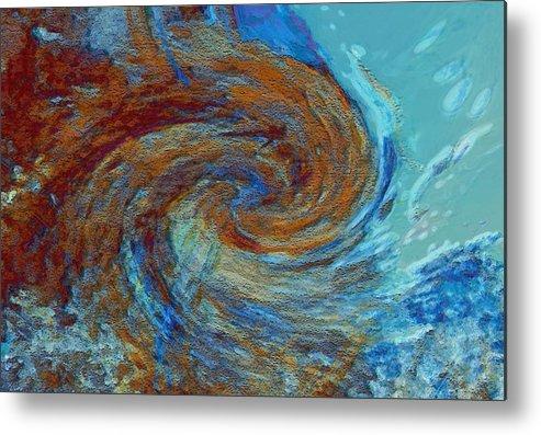 Hurricane Metal Print featuring the digital art Ocean Colors by Linda Sannuti