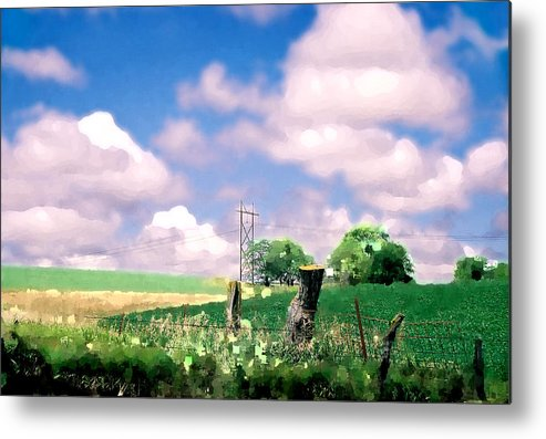 Landscape Metal Print featuring the photograph Off The Grid by Steve Karol
