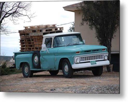 Old Truck Metal Print featuring the photograph Old Chevy by Rob Hans
