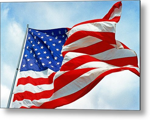Old Glory Metal Print featuring the photograph Old Glory by Paul Trunk