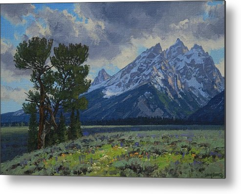 Landscape Metal Print featuring the painting Old Patriarch by Lanny Grant