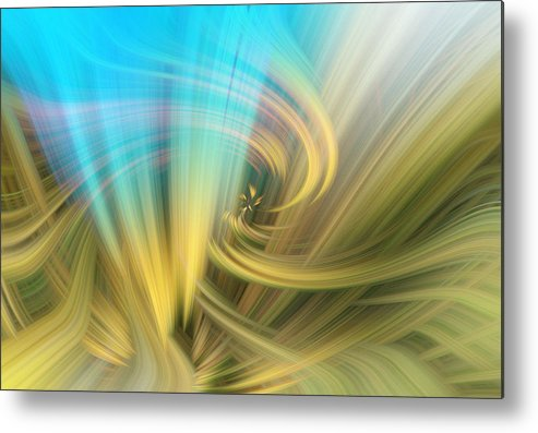 Abstract Metal Print featuring the photograph Opening To New Ideas by Linda Phelps