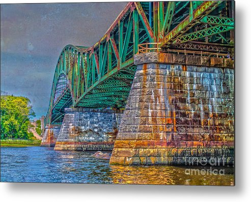 New England Metal Print featuring the photograph Over The River by Claudia M Photography
