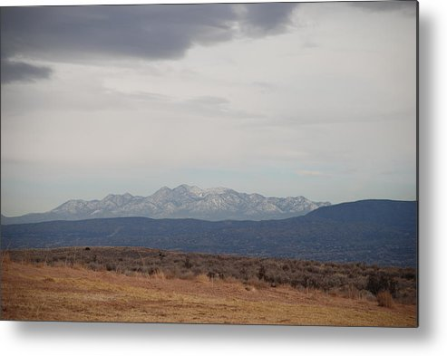 Mountains Metal Print featuring the photograph Overcast On The Sandias by Rob Hans