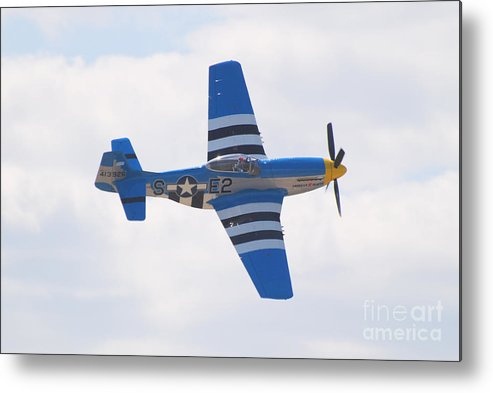 P 51 Metal Print featuring the photograph P-51 Mustang American Rose by Larry Keahey