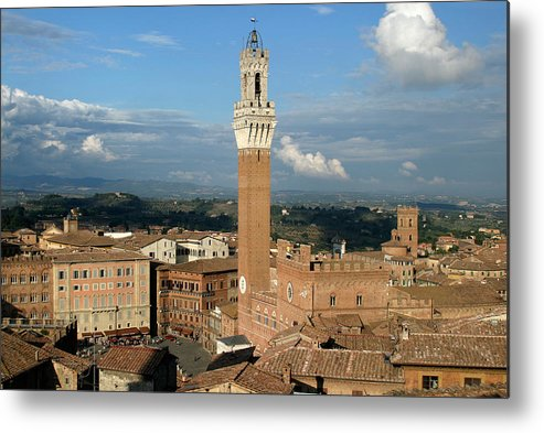 Siena Metal Print featuring the photograph Palazzo Pubblico And Campo Siena by Mathew Lodge