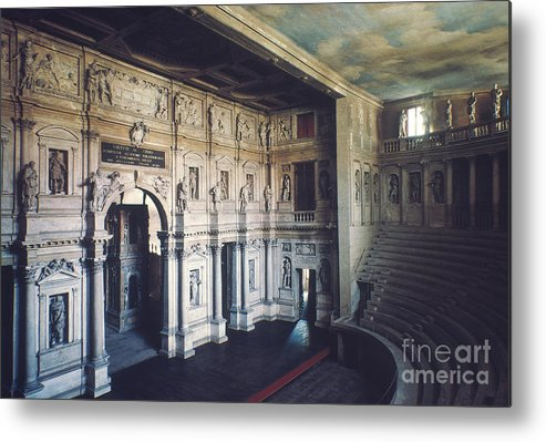 1579 Metal Print featuring the photograph Palladio: Teatro Olimpico by Granger