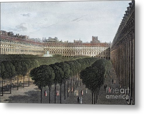1821 Metal Print featuring the photograph Paris: Palais Royal, 1821 by Granger
