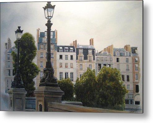 Paris Metal Print featuring the painting Paris Stroll by Victoria Heryet