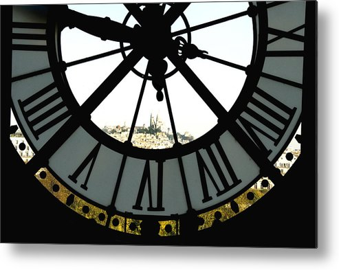 Clock Metal Print featuring the photograph Paris Through The Clock by Charles Ridgway