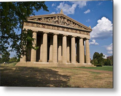 Parthenon Metal Print featuring the photograph Parthenon Nashville Tennessee by Douglas Barnett