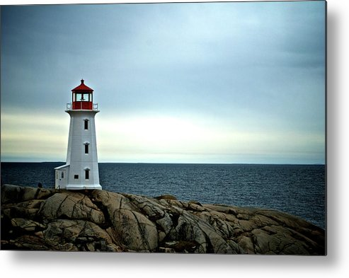 Nova Scotia Metal Print featuring the photograph Peggy's Cove Lighthouse - Photographers Collection by Andre Distel