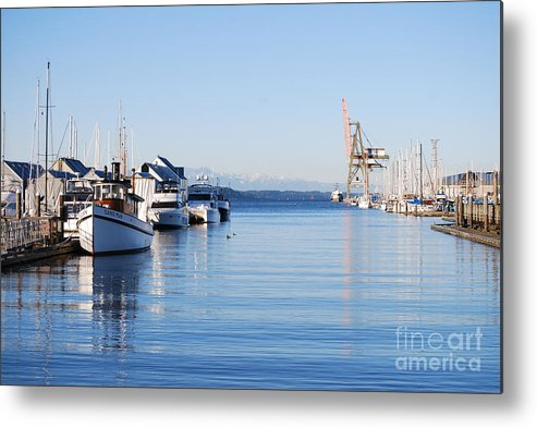Olympia Metal Print featuring the photograph Percival Landing by Larry Keahey